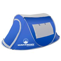 Pop-up Tent 2 Person, Water Resistant Barrel Style Tent for Camping With Rain Fly And Carry Bag, Sunchaser 2-person Tent By Wakeman Outdoors (Blue)