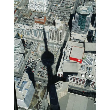 Cn Tower at 533 M or 1,815 Ft High, Canada's Wonder of World, Casting Shadow over Downtown Toronto Print Wall Art By Mark Hannaford](Halloween Downtown Toronto)