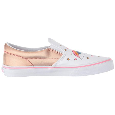 Vans VN-0EX8UGL: Boys Slip On Unicorn Rainbow Pink Lemonade/True White Sneakers - Vans Slip On Toddler