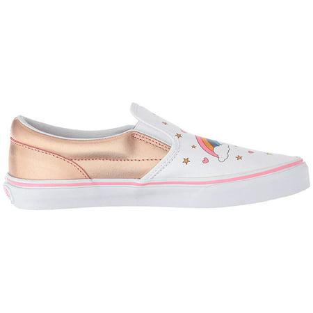 Vans VN-0EX8UGL: Boys Slip On Unicorn Rainbow Pink Lemonade/True White Sneakers