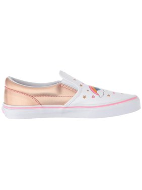 ed4a025bd8 Product Image Vans VN-0EX8UGL  Boys Slip On Unicorn Rainbow Pink  Lemonade True White Sneakers