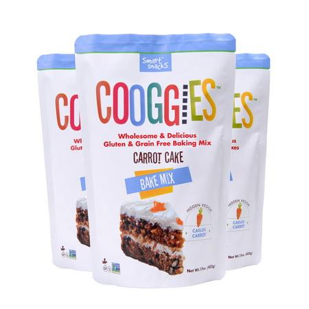 Cooggies Gluten Free Carrot Cake Bake Mix, 3 Pack