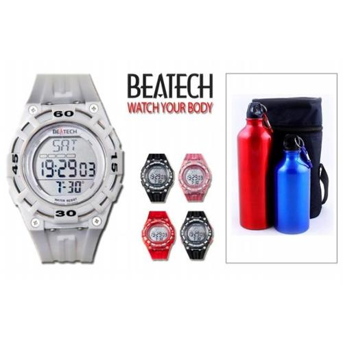 Ovente Beatech Collection BH5000W Heart Rate Monitor Watch and Finelife Camping Bottle Set