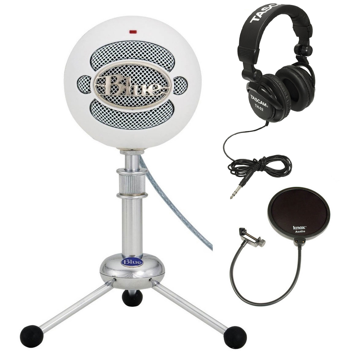Blue Microphones Snowball Plug & Play USB Microphone White + Accessory Kit