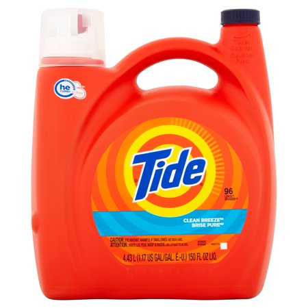 Tide Clean Breeze Scent He Turbo Clean Liquid Laundry Detergent  96 Loads 150 Oz