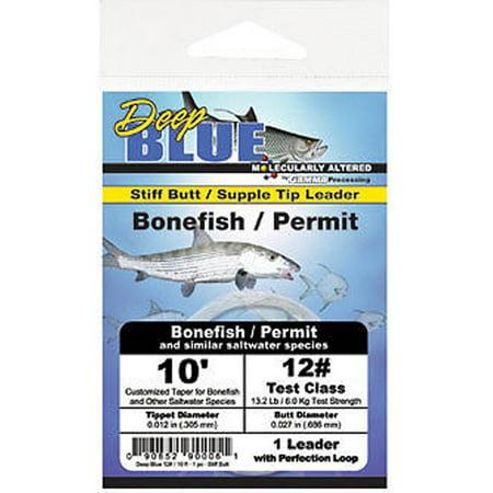 Frog Hair Deep Blue Tapered Leader Bonefish / Permit 10' (1/pk) ()