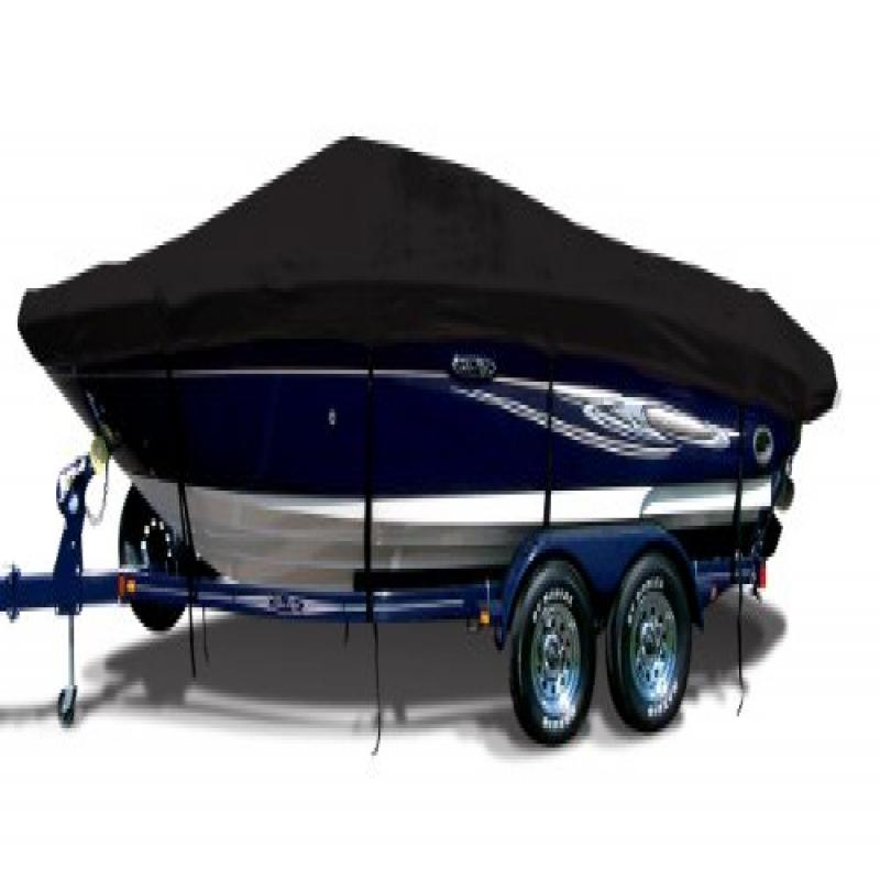 Jet Black Exact Fit Boat Cover Fitting 2000-2001 Supreme Sky Supreme W rbk Wakeboard Tower Models, 9.25 oz. Sunbrella... by