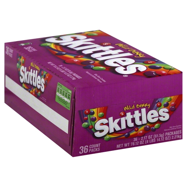 Skittles Singles Candy Wild Berry, 2.17 Oz (Innerpack of 36)