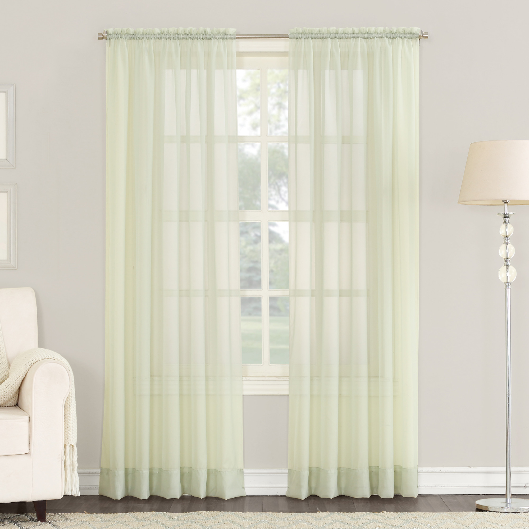 No. 918 Emily Sheer Voile Rod Pocket Curtain Panel by S. Lichtenberg