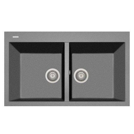 LaToscana 34 L x 20 W Double Basin Drop In Kitchen Sink