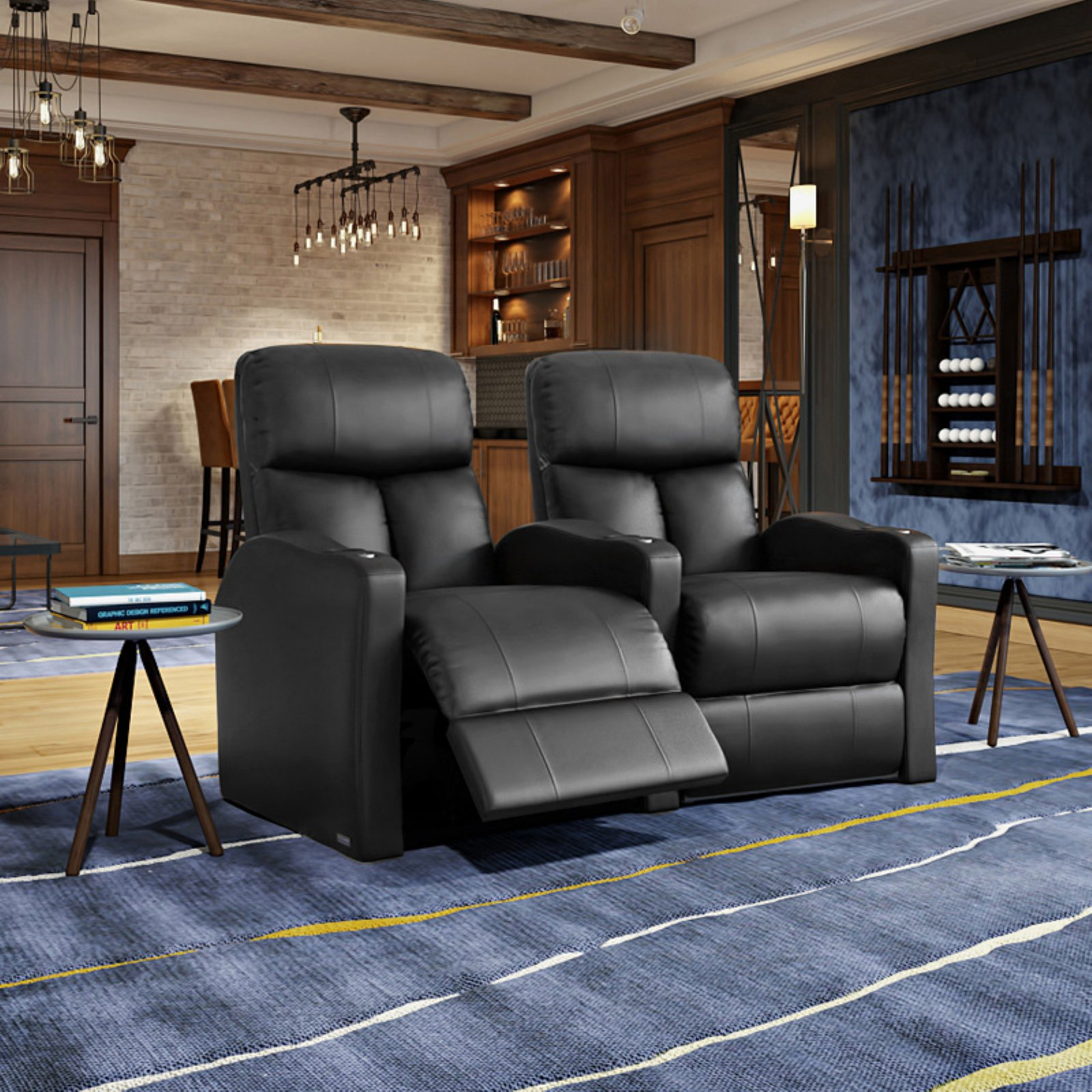 Octane Bolt XS400 2 Seater Curved Power Recline Home Theater Seating