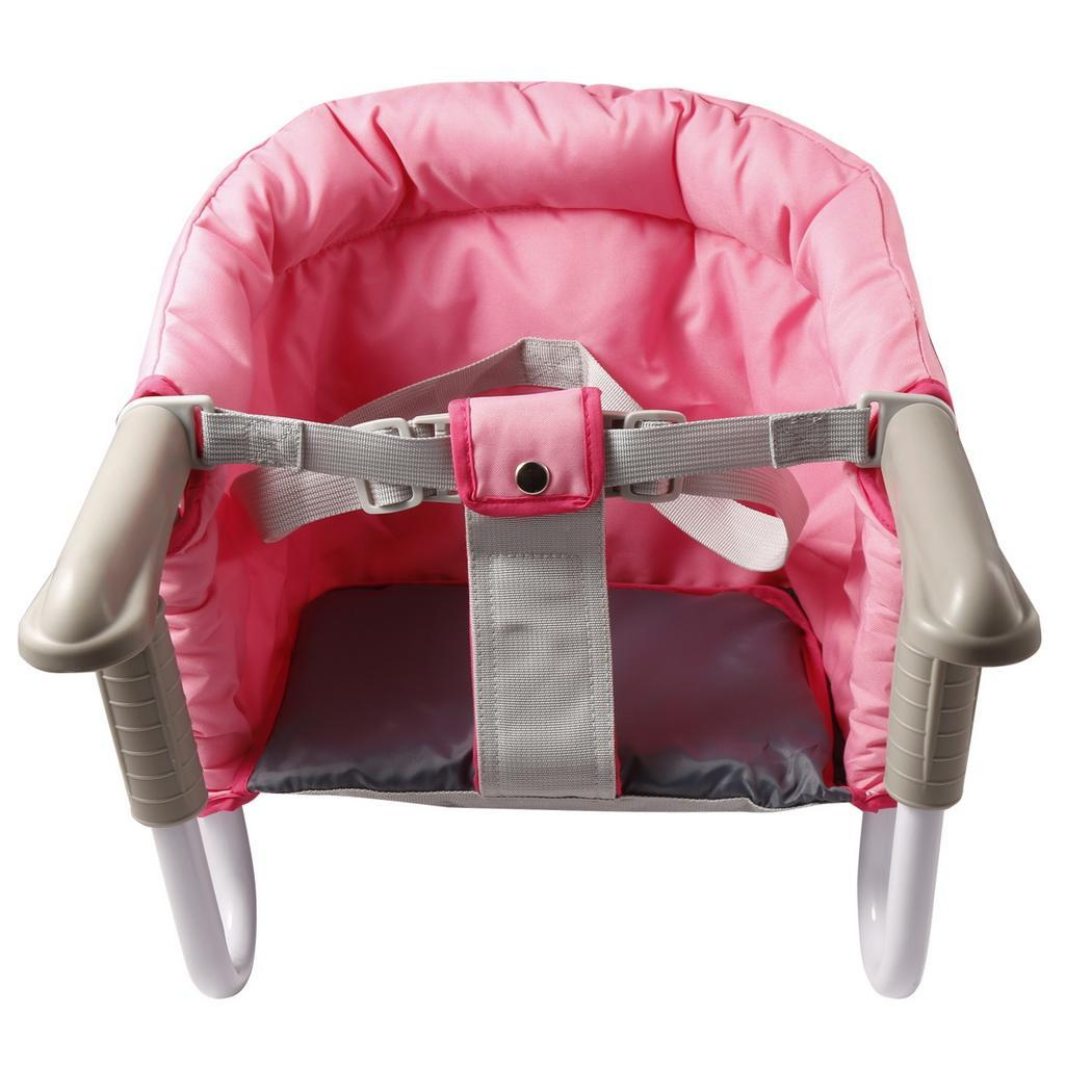 Portable Hook On Seat Travel Baby Toddler Seat High Chair Pink