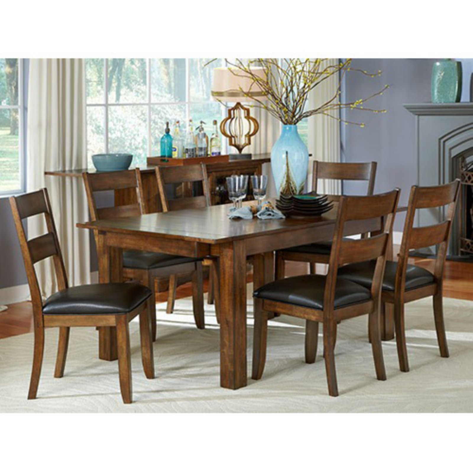 A-America Mariposa Rectangular Leg Dining Table - Rustic Whiskey