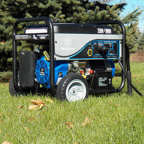 Westinghouse WH7500EC Portable Generator with Electric Start - CARB Compliant