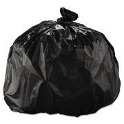 Inteplast Group High-Density Trash Bag, 33 x 40, 33-gal, 22 Micron, Black, 25/Roll -IBSS334022K