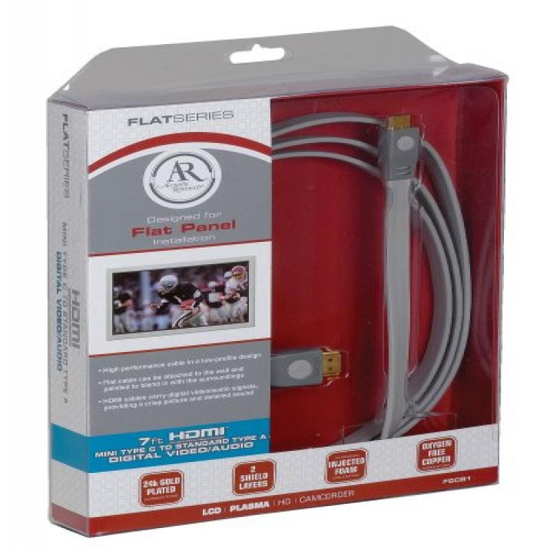 Acoustic Research FS081 Flat Series Mini HDMI to HDMI Cable by Acoustic Research