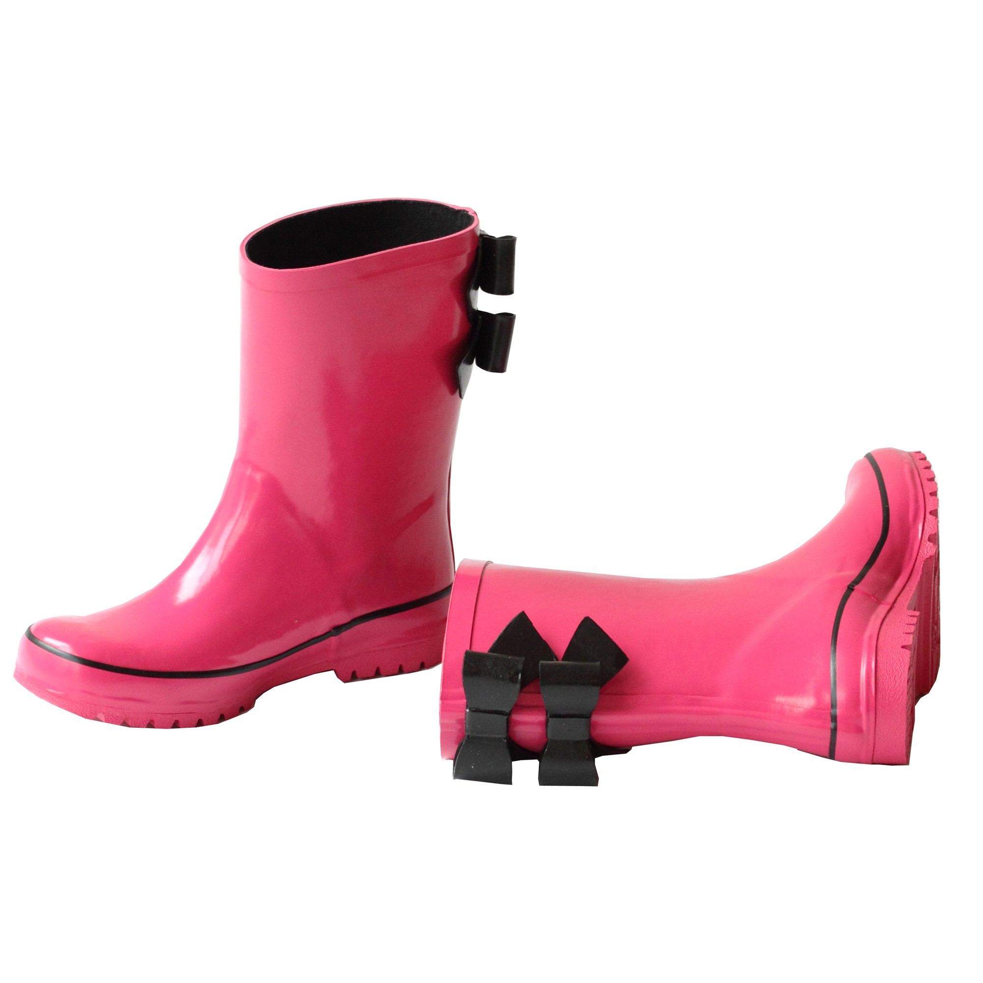 Double Bow Rain Boots 11-4 Kids