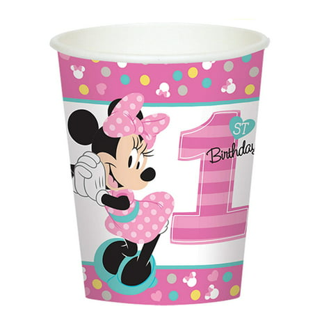 Disney's Minnie Mouse 1st Birthday 9 oz. Paper Cups (8 Count)
