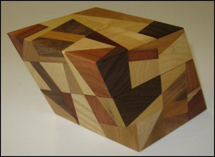 Rhombohedron 2 big Wooden Puzzle Brain Teaser by Vinco