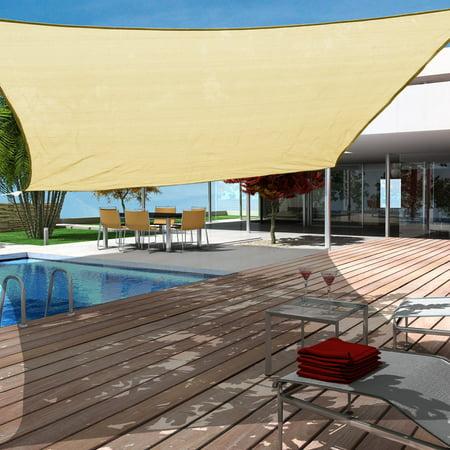 Sundale Outdoor 12'x12' Square Sun Shade Sail Canopy UV ...
