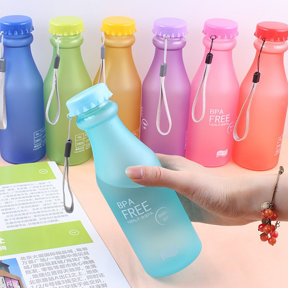 New Hot Sale Portable Leak-proof Bike Sports Unbreakable 550ml Plastic Water Bottle Free Shipping V1NF