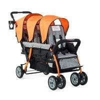 Foundations Triple Stroller 3 Seat Trio Sport, Red
