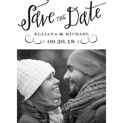Calligraphy Mr and Mrs Standard Save the Date