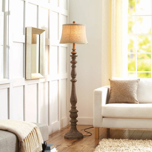 Better homes and gardens rustic floor lamp distressed for Restore wooden floor lamp