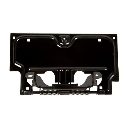 Rugged Ridge 11233.01 License Plate Bracket  Black; Steel; Stock Replacement - image 1 of 1