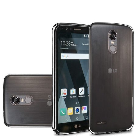 LG Stylo 3 case, LG Stylo 3 Plus case, by Insten Solid TPU Crystal Candy  Skin Gel Rubber Back Case Cover For LG Stylo 3 / Stylo 3 Plus - Black