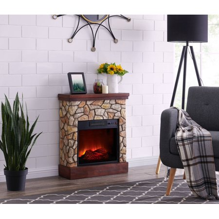Bold Flame 26 inch Faux Stone Electric Fireplace in Tan/Grey ()