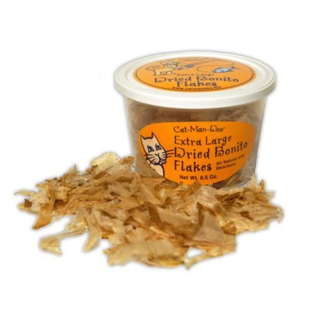 Cat Man Doo Dried Bonito Flakes Cat Treat .5 Ounce by Cat-Man-Doo