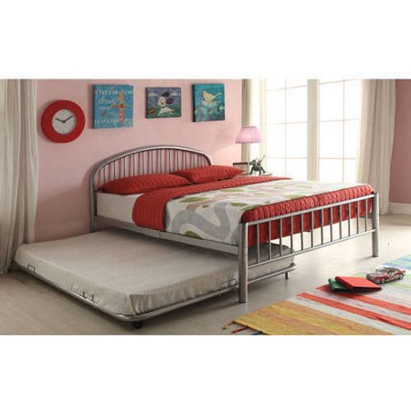 Alex Trundle Twin Bed - Cailyn Twin Bed with Trundle, Silver