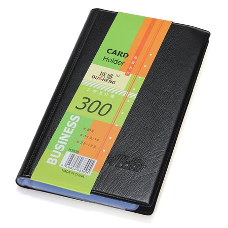 - 300 Slot Leather Business Name ID Credit Card Holder Book Cases Keeper Organizer Storage