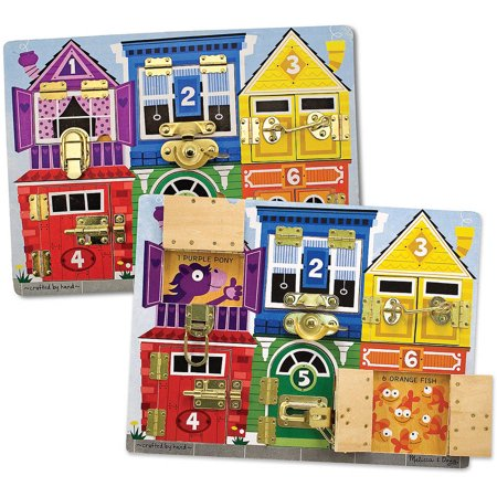 Melissa and Doug Wooden Latches Board - Doug Dynasty