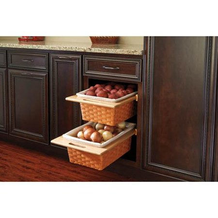 Rev A Shelf 4wv 18i Pull Out Organizers 4wv Base Cabinet