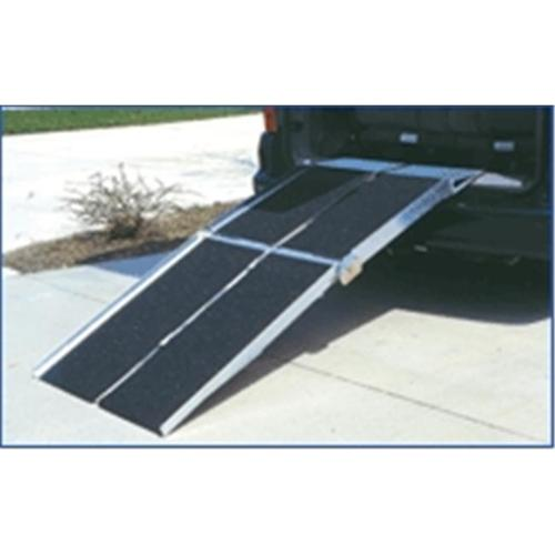 7' Portable Rear Door Van Ramp for Scooters, Wheelchairs and Power Chairs