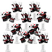 Ta-Da, Magic Show - Magical Birthday Party Centerpiece Sticks - Showstopper Table Toppers - 35 Pieces