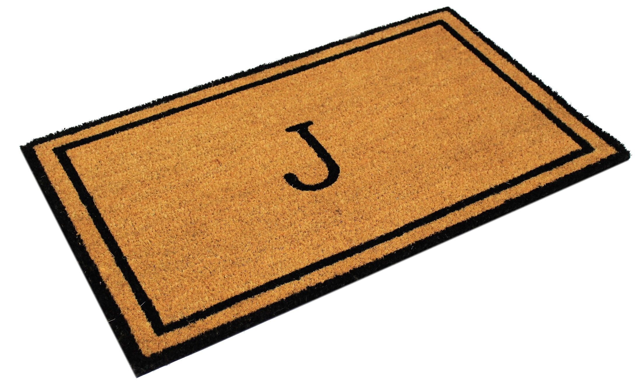 Envelor Home And Garden Customized Monogram J Coir Doormat Coco Welcome Mat  Outdoor Rugs Non Slip Outside Front Door Mat Personalized Monogrammed Shoe  ...