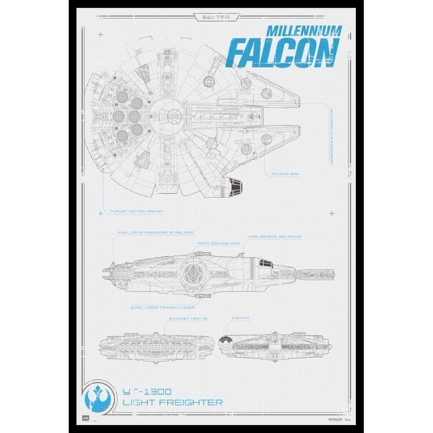 Star Wars Millennium Falcon Blueprint