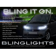 Smart fortwo LED DRL Light Strips Day Time Running Lamps Kit for 2 Headlamps Headlights