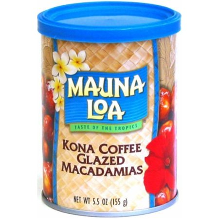 Mauna Loa Kona Coffee Glazed Macadamia Nuts, 5.5-Ounce Can (Pack Of (Mauna Loa Milk Chocolate Coconut Macadamia Nuts)