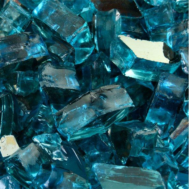 Tahitian Blue Azuria Fire Pit Glass 1 2 10 Lbs Walmart Com Walmart Com