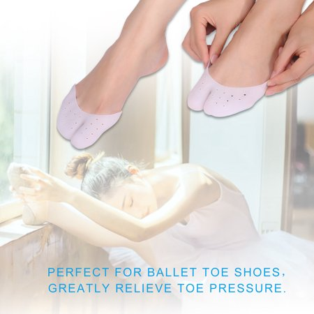 Dilwe 1Pair Soft Silicone Gel Pointe Ballet Dance Shoe Toe Pads Ball of Foot Cushion Blisters Pads Metatarsal Insoles Toe Protector