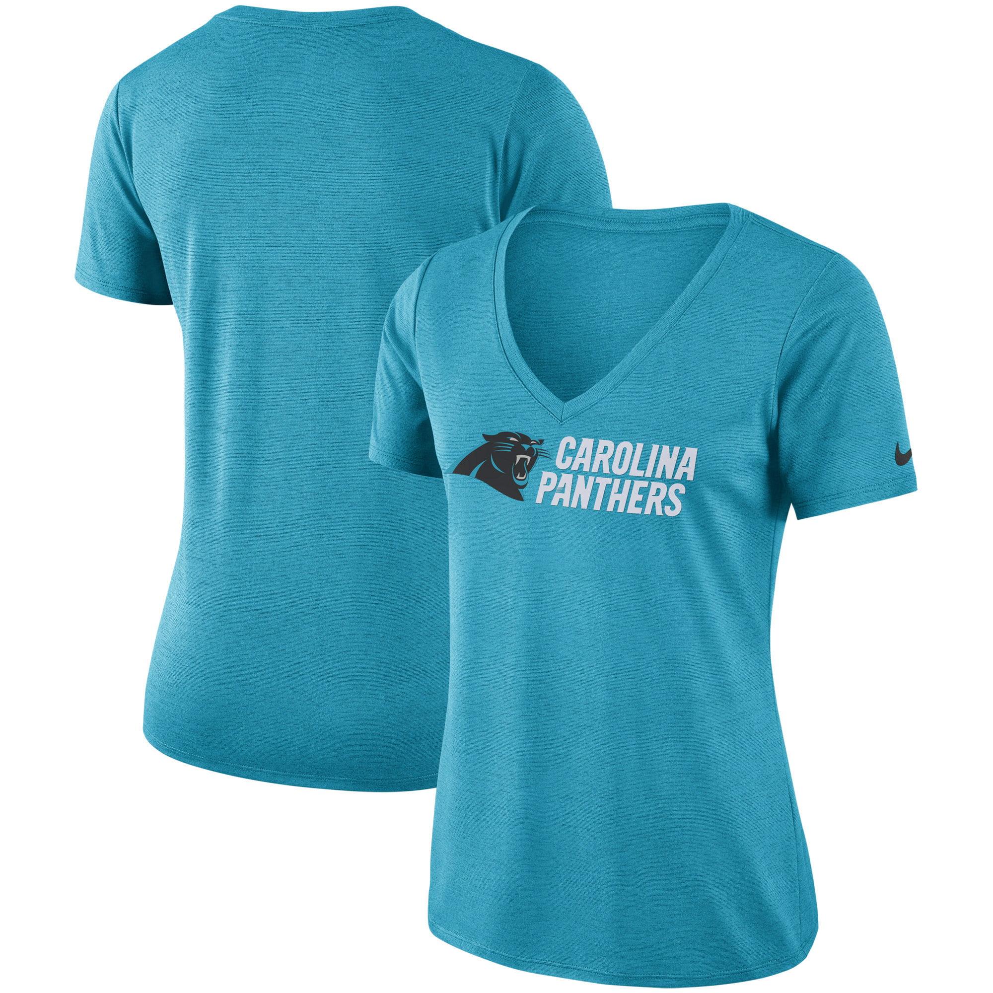 Carolina Panthers Nike Women's Performance V-Neck T-Shirt - Blue