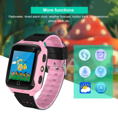 Yosoo New Children Smart Watch With GPS Camera Cell Phone LBS positioning Bluetooth Recording Alarm Calculator Sleep Reminder Watch, SIM Watch, Cell Phone Watch ()