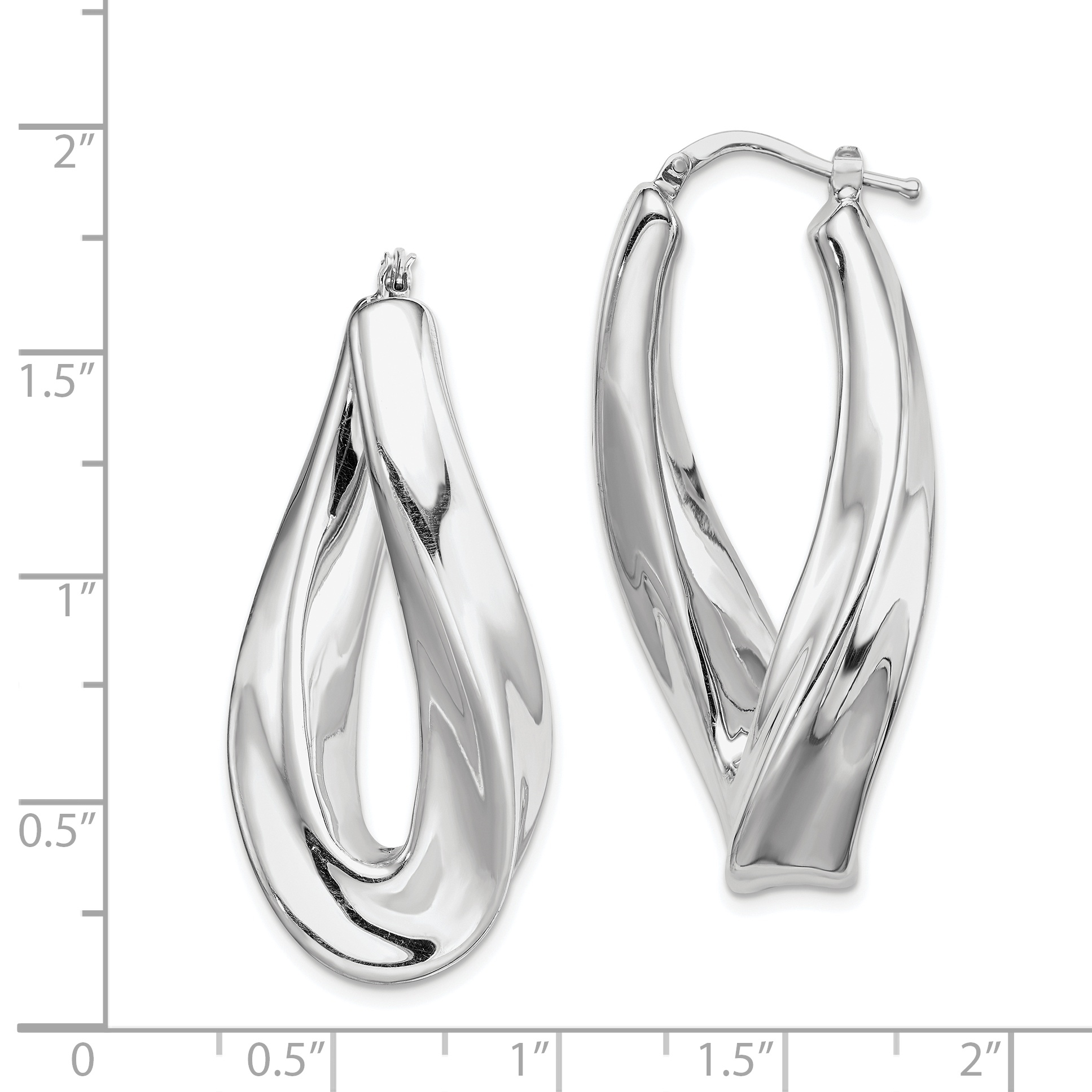 925 Sterling Silver Twisted Hoop Earrings Ear Hoops Set Fine Jewelry Gifts For Women For Her - image 1 of 2