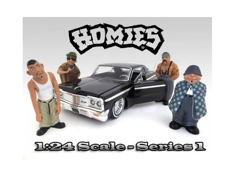 "Homies"" Figure Set of 4pc For 1:24 Scale Diecast Model Cars by American Diorama"" by American Diorama"