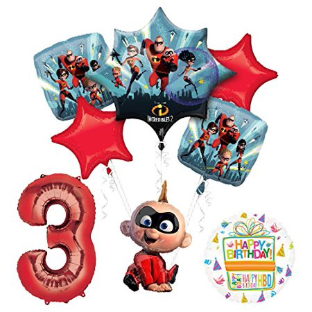Mayflower Products Incredibles Jack Jack party supplies 3rd Birthday Balloon Bouquet Decorations](Union Jack Balloons)