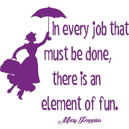 There Is The Whole World At Your Feet Mary Poppins Quote Silhouette Custom Wall Decal Vinyl Sticker 12 Inches X 12
